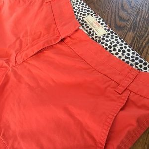 J. Crew Orange Cotton Chino Shorts Size 6